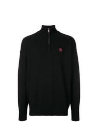 Jersey de cuello alto con cremallera negro de Diesel