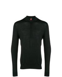 Jersey de cuello alto con cremallera negro de Kiton