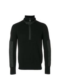 Jersey de cuello alto con cremallera negro de MONCLER GRENOBLE