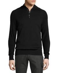 Jersey de cuello alto con cremallera negro de Ralph Lauren