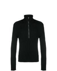 Jersey de cuello alto con cremallera negro de Tom Ford