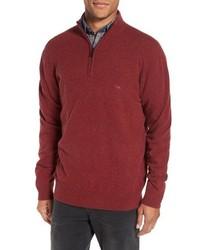 Jersey de cuello alto con cremallera rojo de Rodd & Gunn