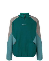 Jersey de cuello alto con cremallera verde de adidas