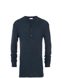 Jersey de cuello alto de botones azul marino de Laneus
