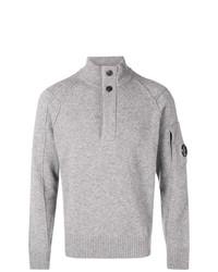 Jersey de cuello alto de botones gris de CP Company