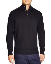 Jersey de cuello alto de botones negro