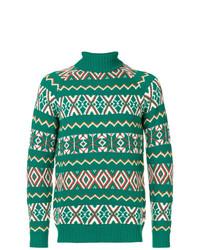 Jersey de cuello alto de grecas alpinos verde de The Gigi