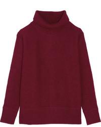 Jersey de cuello alto de lana burdeos de Vanessa Bruno