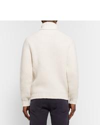 Jersey de cuello alto de lana con relieve blanco de Tod's