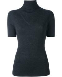 Jersey de cuello alto de lana de punto en gris oscuro de P.A.R.O.S.H.