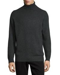 Jersey de cuello alto de lana en gris oscuro de Vince