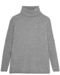 Jersey de cuello alto de lana gris de Allude