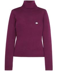 Jersey de cuello alto de lana morado oscuro de See by Chloe