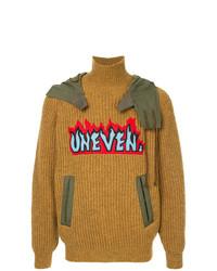 Jersey de cuello alto de lana mostaza de Kolor
