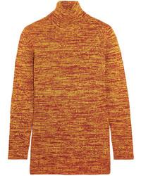 Jersey de cuello alto de lana naranja de Miu Miu
