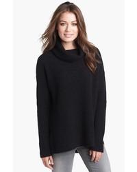 Jersey de cuello alto de lana negro de Eileen Fisher