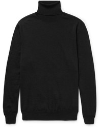Jersey de cuello alto de lana negro de Jil Sander