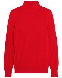 Jersey de cuello alto de lana rojo de Givenchy