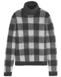Jersey de cuello alto de mohair de punto en gris oscuro de Balenciaga