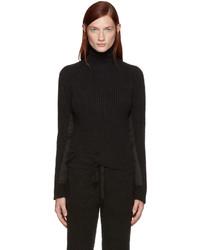 Jersey de cuello alto de mohair negro de Haider Ackermann