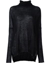 Jersey de cuello alto de mohair negro de Isabel Benenato