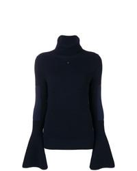 Jersey de cuello alto de punto azul marino de Lanvin
