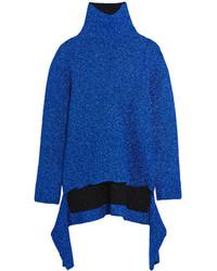 Jersey de cuello alto de punto azul de Balenciaga