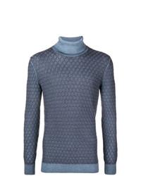 Jersey de cuello alto de punto azul de Gabriele Pasini