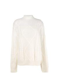 Jersey de cuello alto de punto blanco de Maison Margiela