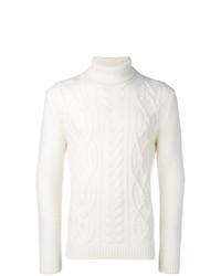 Jersey de cuello alto de punto blanco de Tagliatore