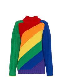 Jersey de cuello alto de punto en multicolor de Burberry