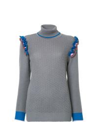 Jersey de cuello alto de punto gris de Anna October
