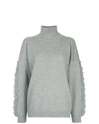 Jersey de cuello alto de punto gris de Barrie