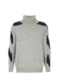 Jersey de cuello alto de punto gris de Coohem