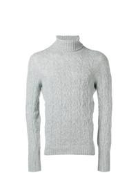 Jersey de cuello alto de punto gris de Drumohr
