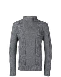 Jersey de cuello alto de punto gris de Fay