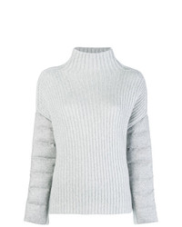 Jersey de cuello alto de punto gris de Herno