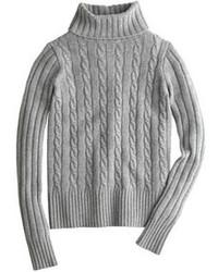 Jersey de cuello alto de punto gris de J.Crew