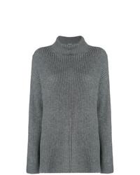 Jersey de cuello alto de punto gris de Le Kasha