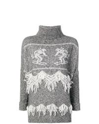 Jersey de cuello alto de punto gris de Lorena Antoniazzi