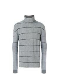 Jersey de cuello alto de punto gris de McQ Alexander McQueen