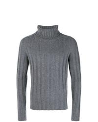 Jersey de cuello alto de punto gris de Mp Massimo Piombo