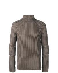 Jersey de cuello alto de punto gris de Neil Barrett