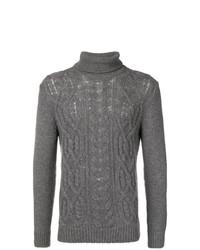 Jersey de cuello alto de punto gris de Tagliatore