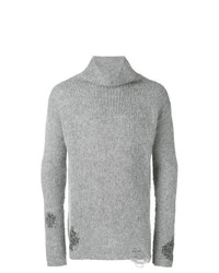 Jersey de cuello alto de punto gris de Thom Krom