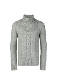 Jersey de cuello alto de punto gris de Tod's