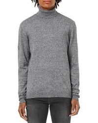 Jersey de cuello alto de punto gris de Topman