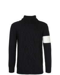 Jersey de cuello alto de punto negro de GUILD PRIME