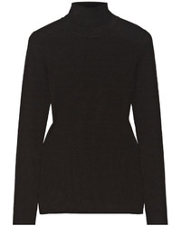 Jersey de cuello alto de punto negro de Michael Kors