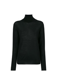 Jersey de cuello alto de punto negro de Stella McCartney